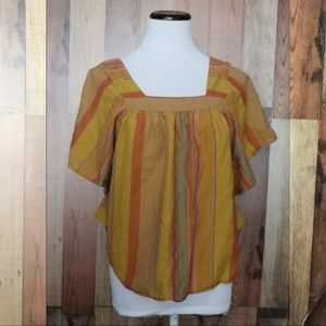 Madewell striped butterfly top xs